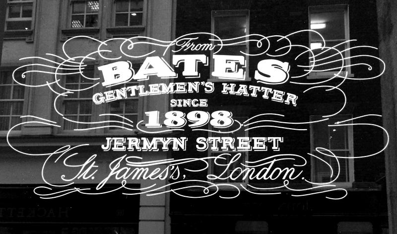 Bates - Gentlemen's Hatter Since 1898